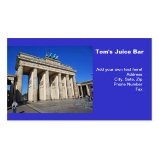 Brandenburg Gate, Berlin, Germany Pack Of Standard Business Cards