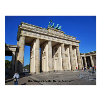 Brandenburg Gate, Berlin, Germany Postcard