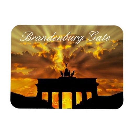 Brandenburg Gate, Berlin, Germany Rectangle Magnets