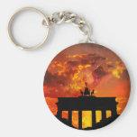 Brandenburg Gate, Berlin Basic Round Button Key Ring