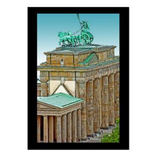 Brandenburg Gate Chariot and Columns, Berlin, Blue Business Cards