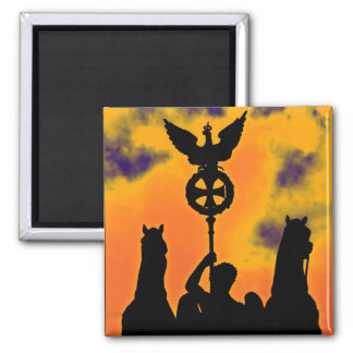 Brandenburg Gate Chariot, Berlin, Germany (bg2b) Square Magnet