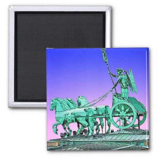 Brandenburg Gate Chariot, Berlin, Germany (bg8p2) Fridge Magnet
