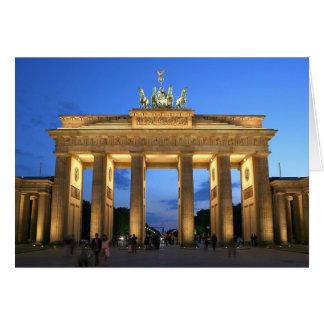 brandenburg gate evening greeting card