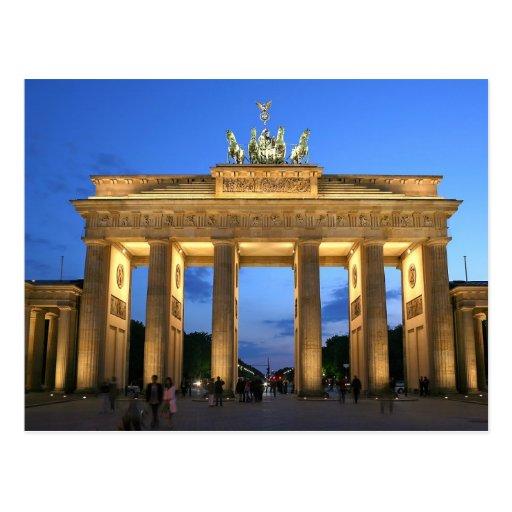 brandenburg gate evening post card