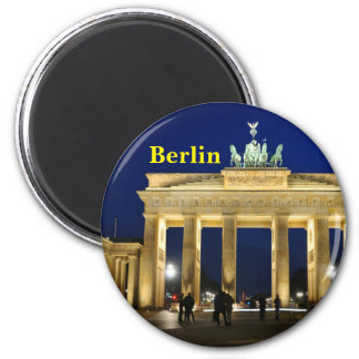 Brandenburg Gate in Berlin, Germany 6 Cm Round Magnet
