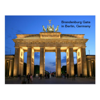 Brandenburg Gate in Berlin, Germany at Night Postcard
