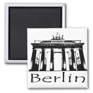 Brandenburg Gate in Berlin Square Magnet