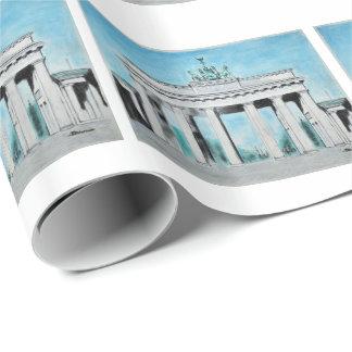 Brandenburg Gate Sketch Wrapping Paper