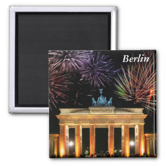 Brandenburg Gate Square Magnet