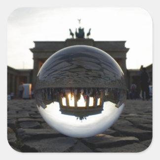 Brandenburg Gate sunset, Berlin 01.2 Square Sticker