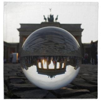 Brandenburg Gate sunset, Berlin Cloth Napkins