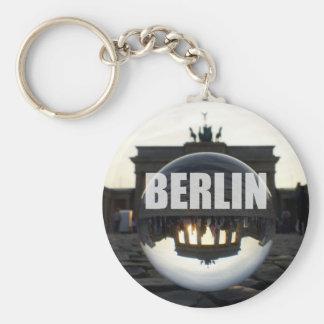 Brandenburg Gate sunset, Berlin Basic Round Button Key Ring