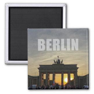 Brandenburg Gate sunset, Berlin Square Magnet