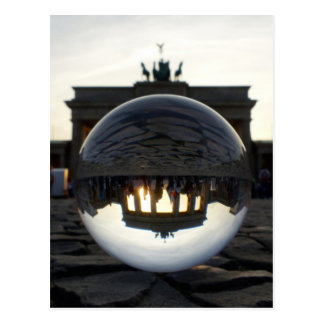 Brandenburg Gate sunset, Berlin Postcard