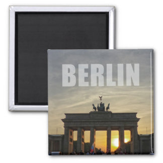Brandenburg Gate sunset, Berlin Square Magnet