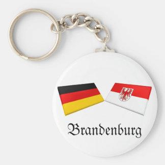 Brandenburg, Germany Flag Tiles Key Chains