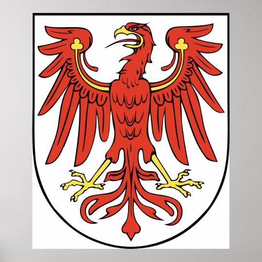 Brandenburg Official Coat of Arms Germany Symbol Poster