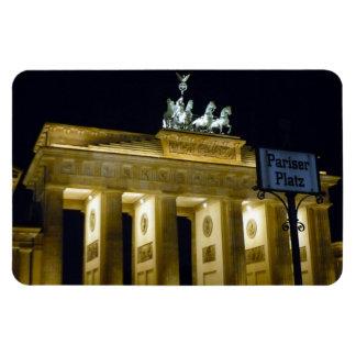 brandenburg pariser platz rectangular photo magnet