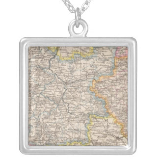 Brandenburg, Posen Atlas Map Silver Plated Necklace