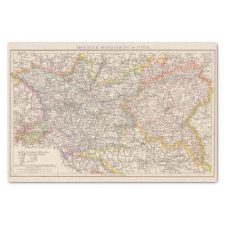 Brandenburg, Posen Atlas Map Tissue Paper