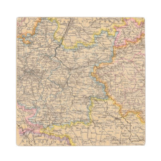 Brandenburg, Posen Atlas Map Wood Coaster