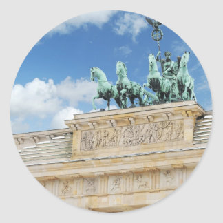 Brandenburg Tor in Berlin, Germany Classic Round Sticker