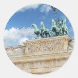 Brandenburg Tor in Berlin, Germany Round Sticker