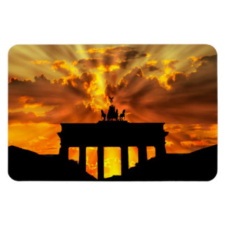 Brandenburger Gate at sunset, Berlin Rectangular Photo Magnet