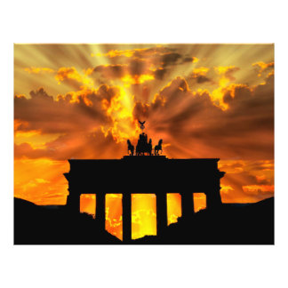 Brandenburger Gate at sunset, Berlin Full Color Flyer