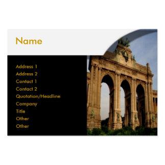 Brandenburger Gate Profile Card Business Card