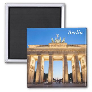 Brandenburger Tor Berlin Square Magnet