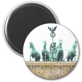 Brandenburger Tor in Berlin, Germany 6 Cm Round Magnet