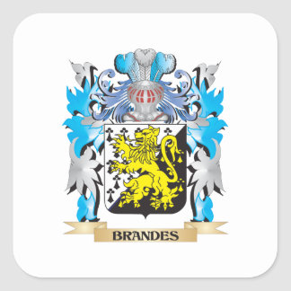 Brandes Coat of Arms Square Stickers