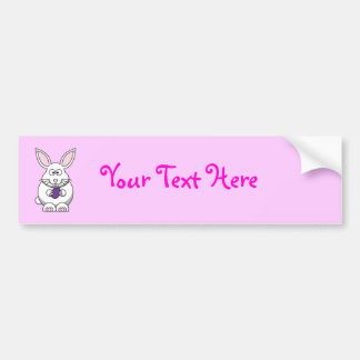 Brandi the Bunny Rabbit Cartoon Bumper Sticker