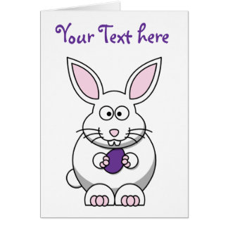 Brandi the Bunny Rabbit Cartoon Card