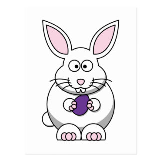 Brandi the Bunny Rabbit Cartoon Postcard