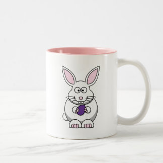 Brandi the Bunny Rabbit Cartoon Two-Tone Coffee Mug