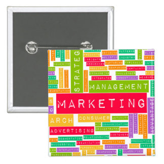 Branding and Marketing as a Business Concept 15 Cm Square Badge