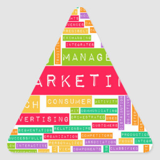 Branding and Marketing as a Business Concept Triangle Sticker