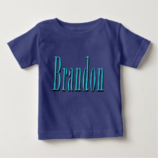 Brandon, Name, Blue Logo, Baby T-Shirt