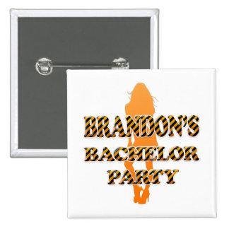 Brandon's Bachelor Party Pinback Button