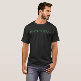 Brandpalooza Black Tee with Sea Green Letters