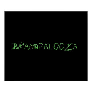Brandpalooza Poster in Black