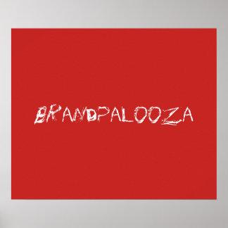 Brandpalooza Poster in Red