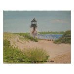 Brandt Point Lighthouse - Nantucket Poster