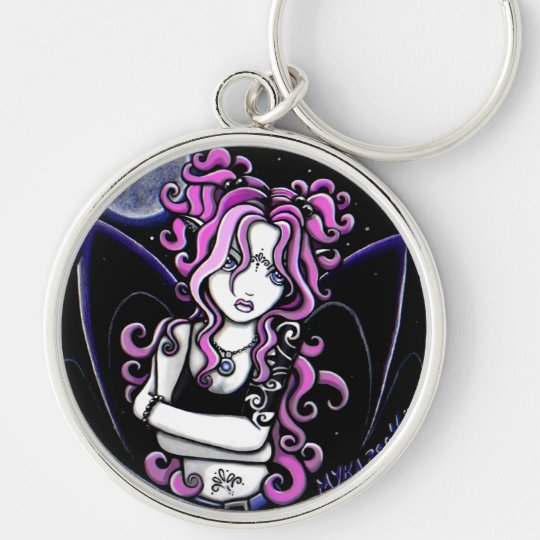 """Brandy"" Gothic Pink Tattoo Fairy Keychain"