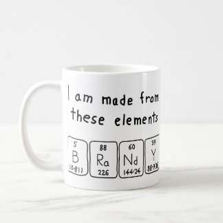 Brandy periodic table name mug