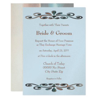 Brandy Rose Ornament Wedding Card