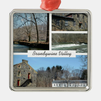 Brandywine Valley Silver-Colored Square Decoration